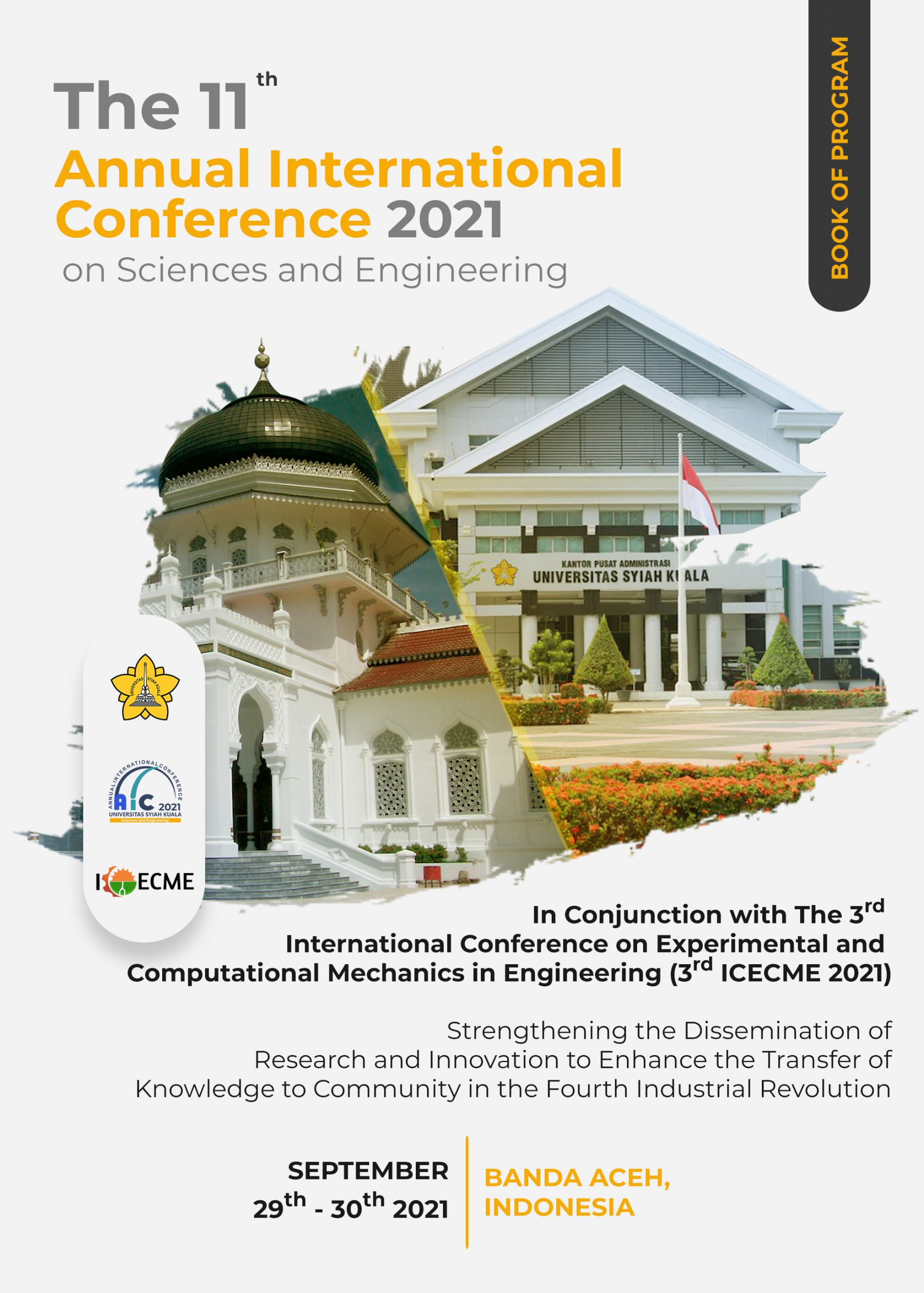 Download tentative schedules, oral presenter guidelines and abstracts from keynote speakers, invited speakers, and all presenters can be seen on Book of Programme below: